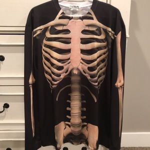 Faux REAL Photorealistic Men's Skeleton Shirt